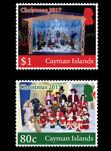 Cayman Islands Christmas 2017 4 value set  2/11/17