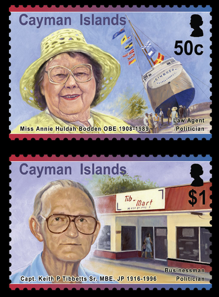 Cayman Islands Pioneers II 4 value set 20/5/15