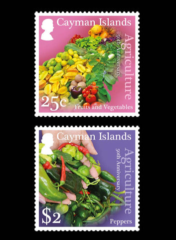 Cayman Islands 50th Aniversary of Agriculture 4 value set  29/3/17