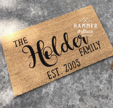 6/25/2019 (6:30pm) Personalized Doormat Workshop (Southern Pines)