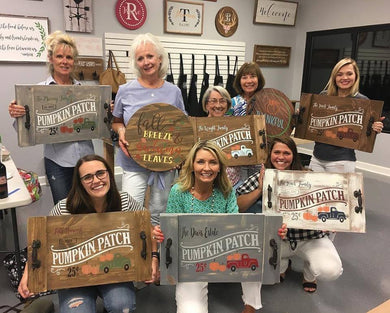 09/14/2019 (2pm) Pacella Private Party--Wood Round or Farmhouse Tray (Southern Pines)