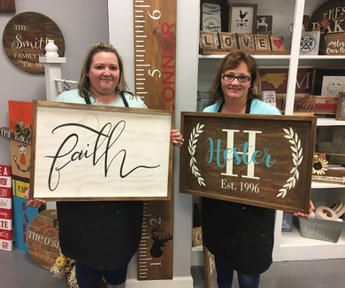 5/04/2019 (10am) Brown Private Party--Small Framed Signs (Southern Pines)