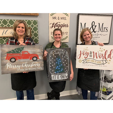 12/07/2019 (6:30pm) Three Board Holiday Signs Workshop (Southern Pines)
