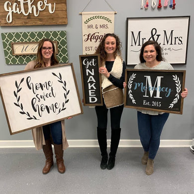 12/13/2019 (6:30pm) Framed Sign Workshop (Southern Pines)
