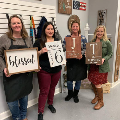 7/08/2019 (6:30pm) Gallery Sign Workshop (Southern Pines)