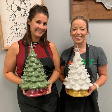 07/28/2020 (6:30PM) Ceramic Vintage Style Christmas Workshop (Southern Pines)