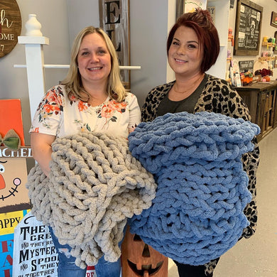 12/01/2019 (1pm) Cozy Knit Blanket Workshop (Southern Pines)