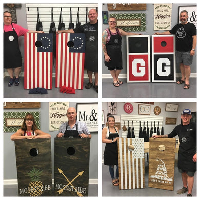 02/15/2020 (6pm) Cornhole Board Workshop (Southern Pines)