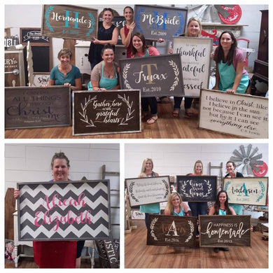 6/08/2018 (6:30pm) Framed Sign Workshop (Southern Pines)