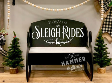 12/08/2019 (1pm) Sleigh Bench Workshop (Southern Pines)