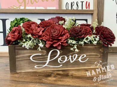 02/11/2020 (6:30pm) Date Night--Wood Flowers Workshop (Southern Pines)
