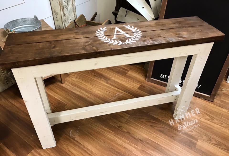 10/17/2020 (6PM) Farmhouse Sofa Table Workshop (Southern Pines)