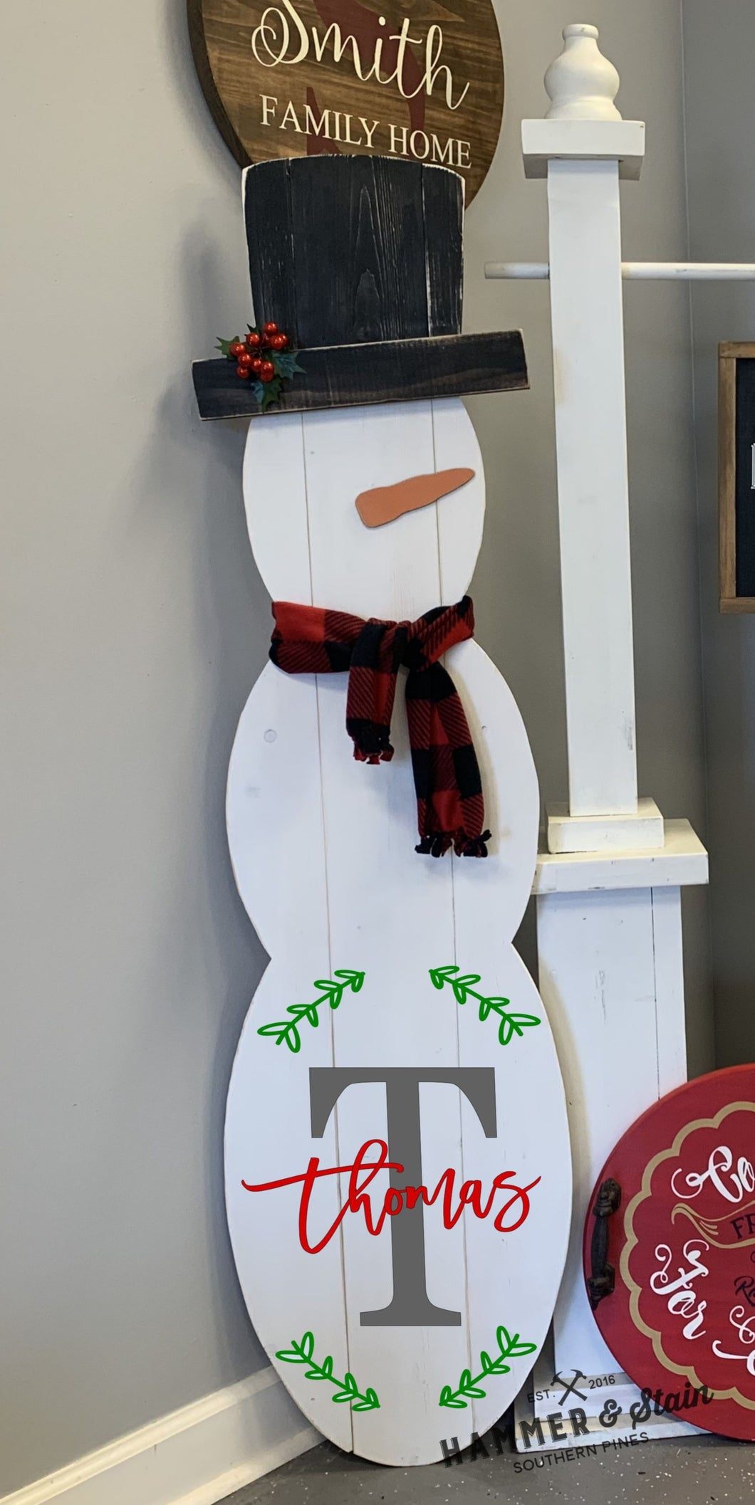 10/21/2020 (6:30PM) 5' Personalized Porch Snowman Workshop (Southern Pines)