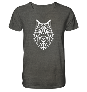 V-Neck Shirts - V-Neck T-Shirt - Alpha-Spirit (White) - Glasmates
