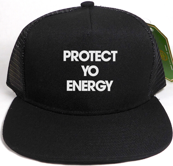 PYE Mesh Trucker 5 Panel Snapback - PROTECT YO ENERGY #1 SELF HEALING BRAND FOR TOOLS AND SOLUTIONS