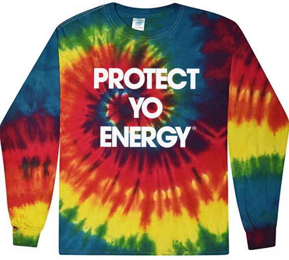 PYE Tie Dye Long Sleeve Tee - PROTECT YO ENERGY #1 SELF HEALING BRAND FOR TOOLS AND SOLUTIONS