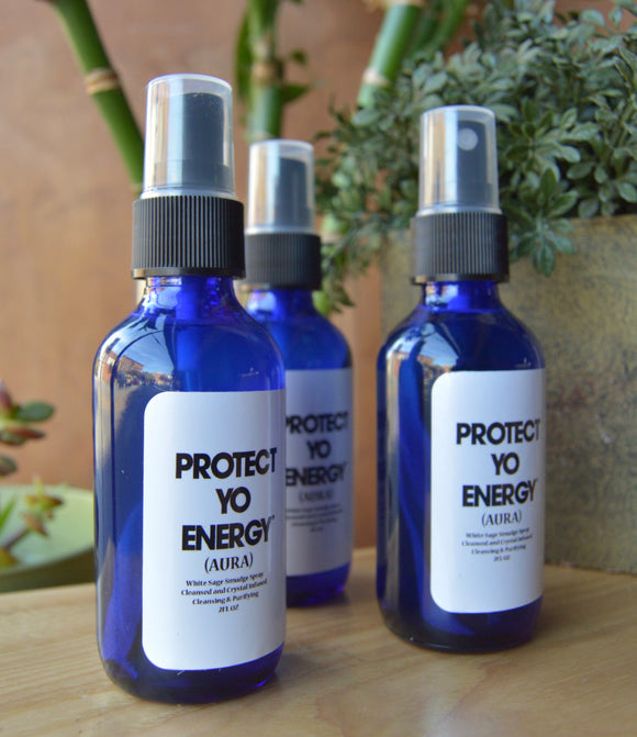 PYE-  AURA SPRAY - PROTECT YO ENERGY #1 SELF HEALING BRAND FOR TOOLS AND SOLUTIONS