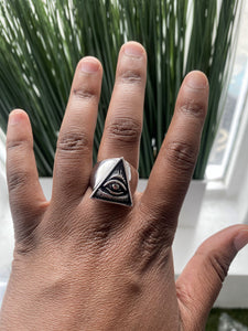 All Seeing Eye Ring - PROTECT YO ENERGY #1 SELF HEALING BRAND FOR TOOLS AND SOLUTIONS