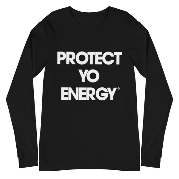 PYE Classic Long Sleeve Tee - PROTECT YO ENERGY #1 SELF HEALING BRAND FOR TOOLS AND SOLUTIONS