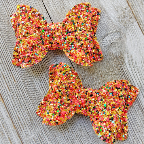 Cornucopia Glitter Bow 2.5 Inches