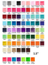 Color Chart for 4 inch girls hair bow