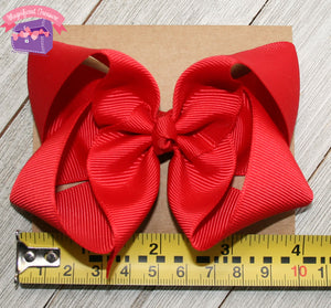 4 Inch Girls Hair Bow Double Prong Alligator Clip Size