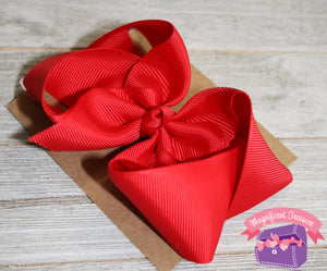 4 Inch Girls Hair Bow Double Prong Alligator Clip Side View