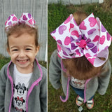 "Candy Heart 6"" Valentine Hair Bow"