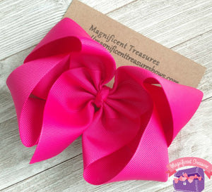 Extra Large 6 Inch Girl Boutique Hair Bow - You Choose Color