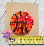 Basketball Puff Hair Bow your team color size