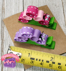 Caterpillar Girls Hair Clip - Pink or Purple - Magnificent Treasures