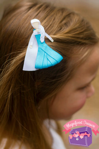 Elsa from Frozen Hair Bow - Magnificent Treasures