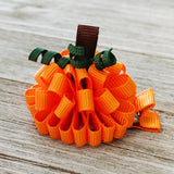 Pumpkin Loopy Puff Bow - 2 Sizes
