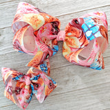 "4"" Donuts Ribbon Hair Bow"