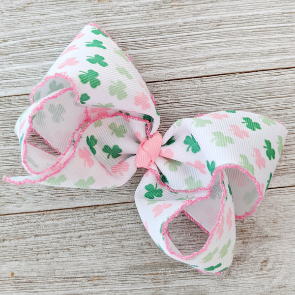 Pink and Green Shamrocks 4