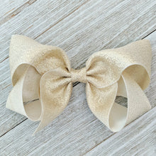 Metallic 4 Inch Girls Boutique Hair Bow - Silver or Gold