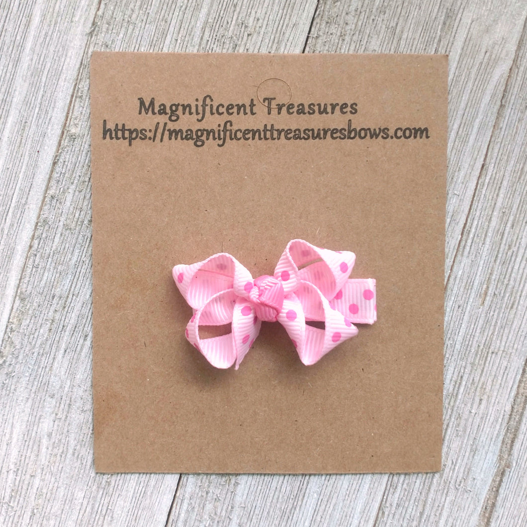 2 Inch Girls Boutique Hair Bow - You Choose Color and Clip