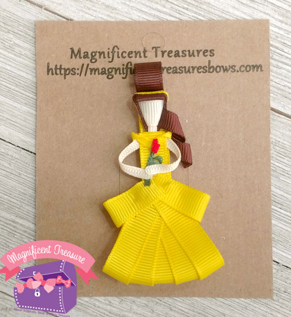 Belle from Beauty and the Beast Hair Bow