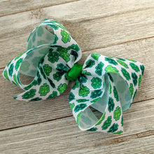 "Shamrock 4"" Ribbon Hair Bow"