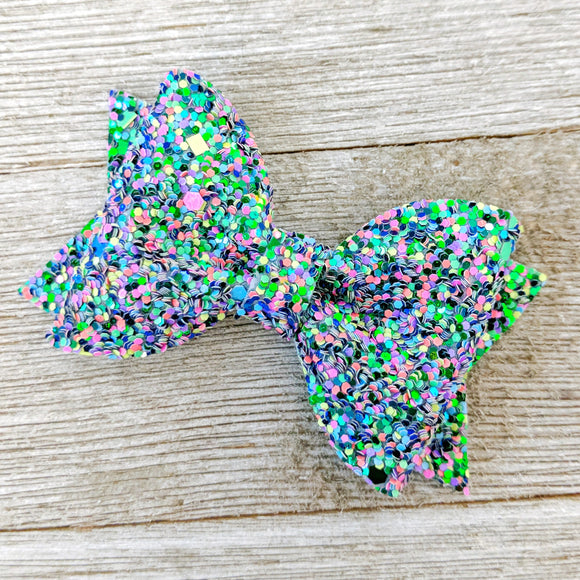 Monster Mash Pinch Glitter Bows - 2 Sizes Available