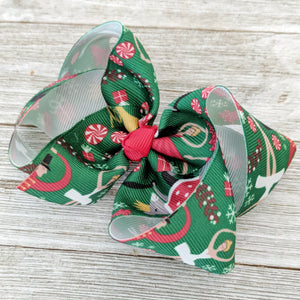 "4"" or 6"" Nutcracker Ribbon Hair Bow"