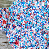 Red, White, and Blue Glitter Hair Bow