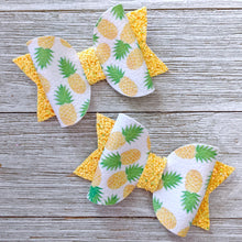 Mini Pineapple Glitter Bow 2.5 Inches