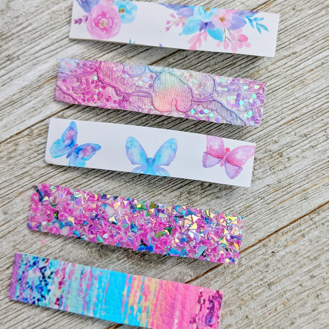 Butterfly and Flower Clippie Set
