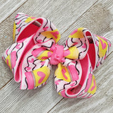 "4"" Pencil Back to School Hair Bow"