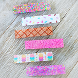 Ice Cream Glitter Clippie Set