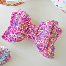 Pixie Pink Chunky Glitter Bow 2.5 Inches
