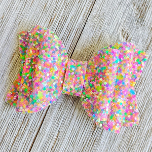 Carnival Chunky Glitter Bow 2.5 Inches