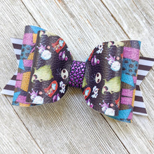 Nightmare Before Christmas Glitter Bow - 2 Sizes