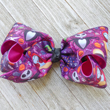 "Jack and Sally 7-8"" Ribbon Hair Bow"